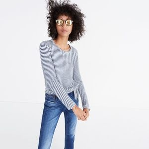 Madewell Soundcheck Striped Side-Tie Tee